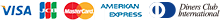 VISA/AMEX/MASTER/JCB/DINERS