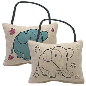 Yogibo Canvas Cushion Elephant