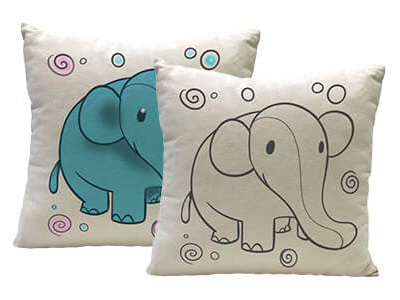 Yogibo Canvas Cushion Elephant