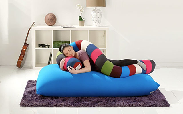 Sofa Combo Yogibo Max + Caterpillar Roll Long