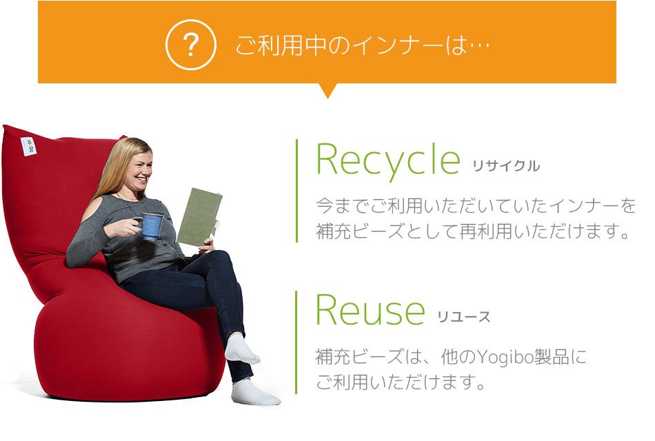 ご利用中のインナーはリサイクル&リユースへ