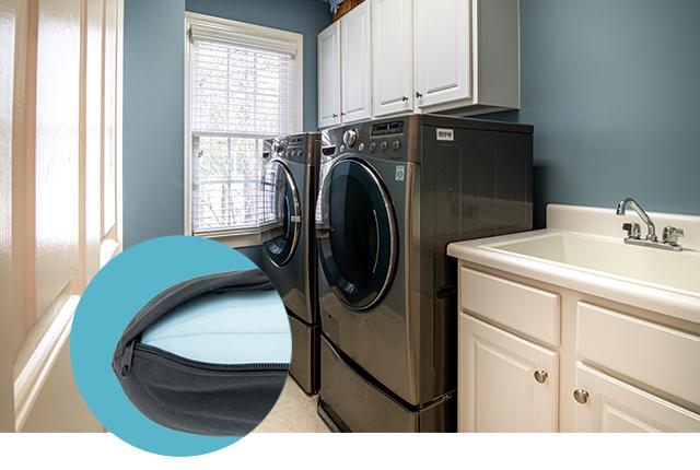 Neck Pillow 洗濯機で洗えて、いつでも清潔に