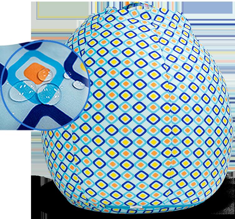 耐水性カバーが特徴のYogibo Zoolaシリーズ